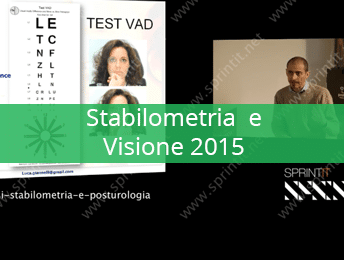Stabilometria e Visione 2015