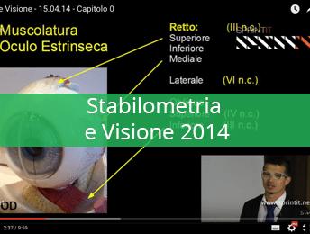 Stabilometria e Visione 2014